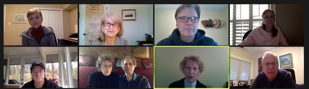 a group of people on a zoom conference