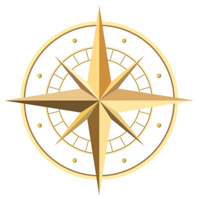 34993678 - gold compass rose